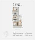 韶华(建筑面积:127㎡ 3室2厅2卫)
