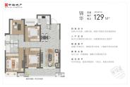 锦华(建筑面积:129㎡ 4室2厅2卫)